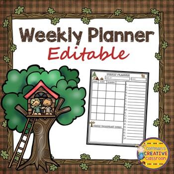 Camping Theme Homework Sheets