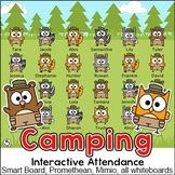 Camping Theme Interactive Attendance - Woodland Animals Classroom