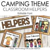 Camping Theme Classroom Jobs: camping Theme Classroom Decor