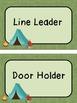 EDITABLE Camping Theme Classroom Job Chart