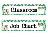 Camping Theme Job Chart Title