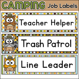 Forest Animals Camping Theme Classroom Jobs Labels - Editable
