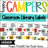 Camping Theme LIBRARY BOOK LABELS Classroom Decor
