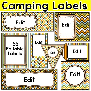 Camping Theme Labels