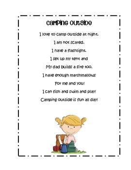 Camping Theme Literacy & Math Center Activities