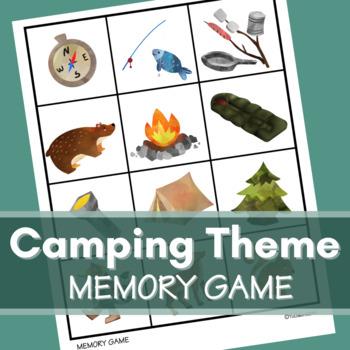 Camping Theme Memory Card Game
