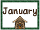 Camping Theme Months of the Year Signs