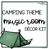 Camping Theme Music Room Decor Kit
