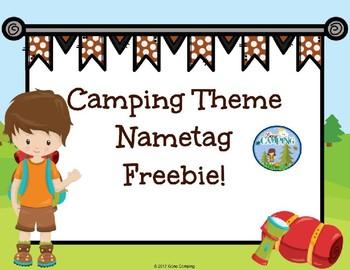 Camping Theme Name Plate FREEBIE!