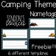 Camping Theme Name Tags! FREEBIE