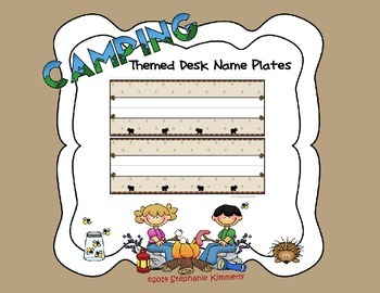 Camping Theme Name or Word Strips