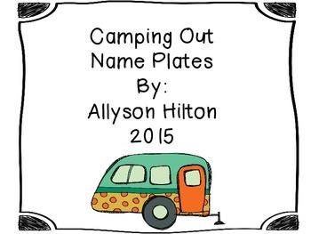 Camping Theme Nameplates