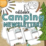 Camping Theme Editable Newsletters Template- POWERPOINT FILE