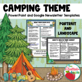 Camping Theme Newsletter Templates