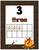 Camping Theme Number Posters 1-30