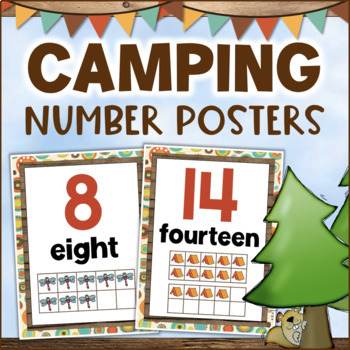 Camping Theme Number Posters