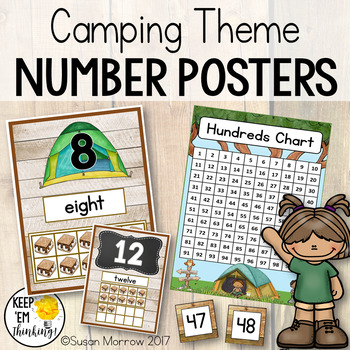 Camping Theme Number Posters and More!  Camping Theme Classroom Decor