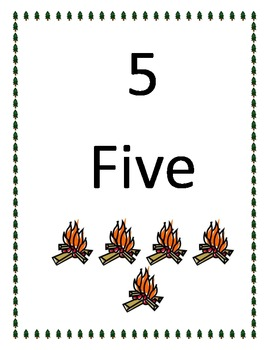 Camping Theme Number Words 0-10