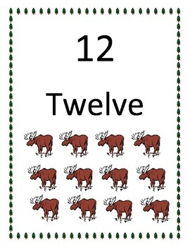 Camping Theme Number Words 11-20
