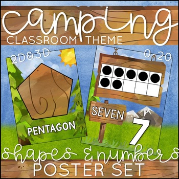 Camping Theme Number and Shape Posters