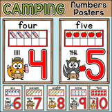 Camping Theme Numbers Posters - Forest Animals Themed Classroom Decor