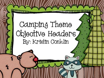 Camping Theme Objective Headers