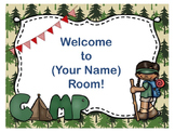 Camping Theme Open House ~ Back to School ~ PowerPoint Template {Editable Text}