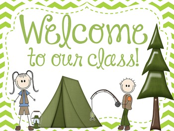 Camping Theme Open House Powerpoint - Chevron