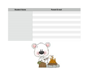 Camping Theme - Parent E-mail Sign Up