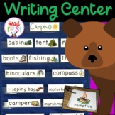 Forest Camping Pictionary Cards - Vocabulary, Writing Cent