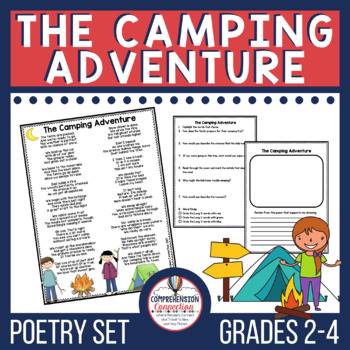 This image is of a camping themed poetry set for students in the primary grades.