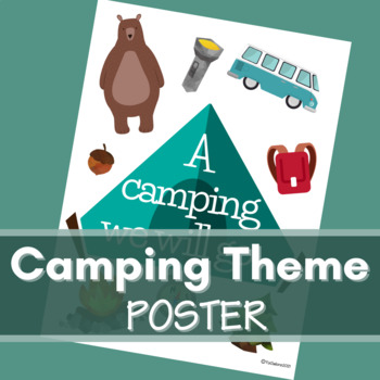 Camping Theme Poster