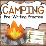 Camping Theme Pre-Writing Practice for Preschool