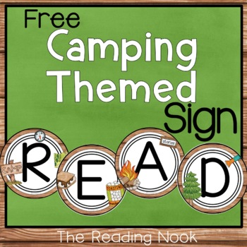 Camping Theme READ Sign - Free