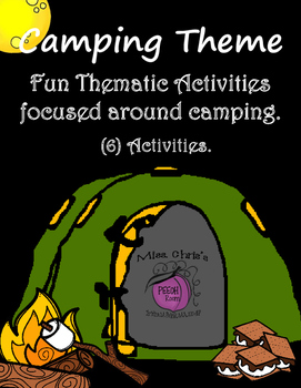 Camping Theme Resource for Vocab. No prep activities. Readers/Non-readers