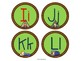 Camping Theme Round Word Wall Headers