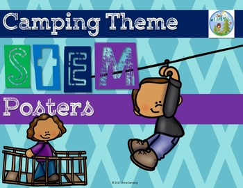 Camping Theme STEM Posters