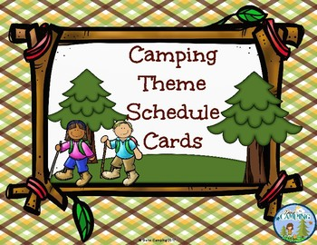 Camping Theme Schedule Cards 2