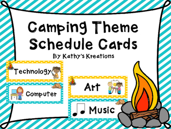 Camping Theme Schedule Cards