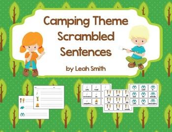 Camping Theme Scrambled Sentences