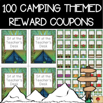 Teacher coupons from principal teaching resources teachers pay camping theme set of 100 reward coupons fandeluxe Choice Image