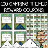 Camping Theme Set of 100 Reward Coupons