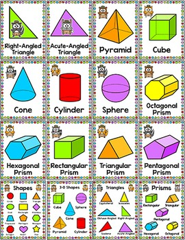 Camping Theme Shapes Posters