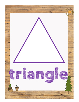 Camping Theme Shapes Wall Posters- 2D and 3D Shapes