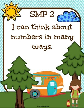 Camping Theme Standards Mathematical Practice