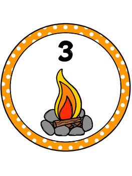 Camping Theme Table Number 1-8