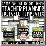 Camping Theme Teacher Binder Editable [Planner, Newsletter