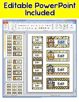Camping Theme Teacher Toolbox Labels