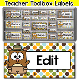 Forest Animals Camping Theme Teacher Toolbox Labels
