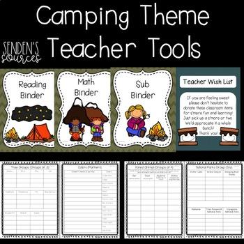 Camping Theme Teacher Tools